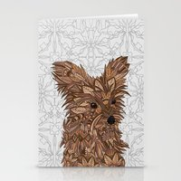 yorkie Stationery Cards featuring Cute Yorkie by ArtLovePassion