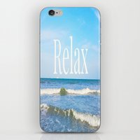 relax iPhone & iPod Skins featuring Relax by JuniqueStudio