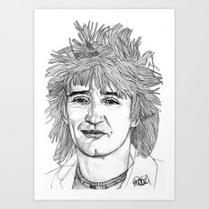 Rod the Mod Art Print