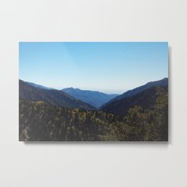 Blue Sky over Mountains in California Metal Print