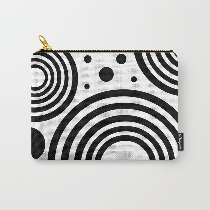 Circular  |  Black and White Carry-All Pouch