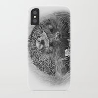 hedgehog iPhone & iPod Cases featuring Hedgehog by MARIA BOZINA - PRINT