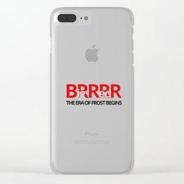 Big Red BRRR Clear iPhone Case