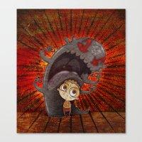 fear Canvas Prints featuring Fear by José Luis Guerrero
