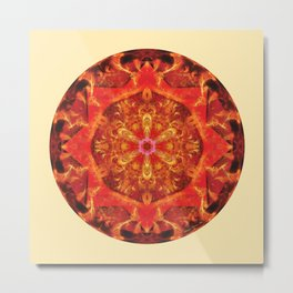 Mandalas from the Heart of Transformation 7 Metal Print