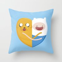 best friends Throw Pillows featuring Best friends  by Manfred Maroto