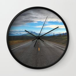 The Road Goes On Wall Clock