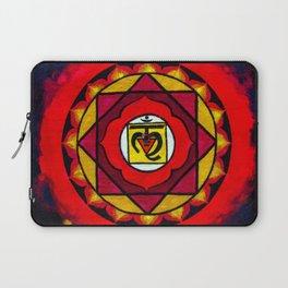 Indian Style Ohm Mandala of Vibrant Color Laptop Sleeve