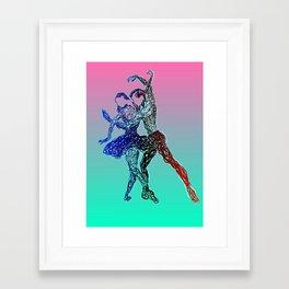 Dancing together Framed Art Print
