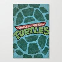teenage mutant ninja turtles Canvas Prints featuring Teenage Mutant Ninja Turtles by bradhydedesigns