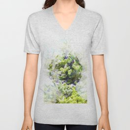 Where the sea sings to the trees - 4 Unisex V-Neck