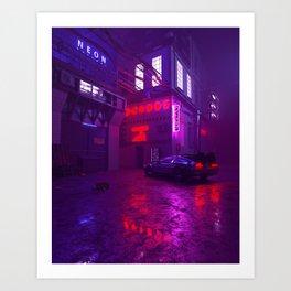 Neon nights Art Print