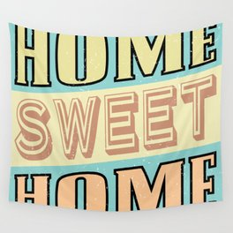 Home Sweet Home Retro  Wall Tapestry