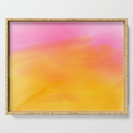 Abstract Watercolor Soft Background Serving Tray