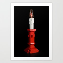Lego light #2 Art Print