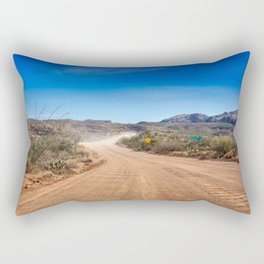 Apache Trail dirt road Rectangular Pillow