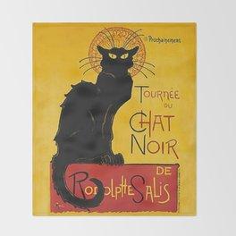 Tournée du Chat noir Throw Blanket