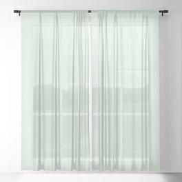 Mint Whisper Green #DAEFDF Sheer Curtain