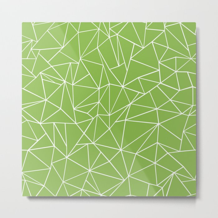 Ab Outline Greeny Metal Print