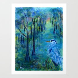 The Great Blue Art Print