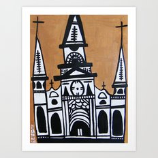 I Heart St. Louis Cathedral  Art Print