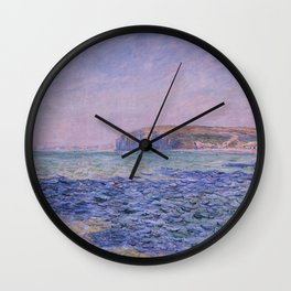 Claude Monet - Shadows on the Sea - Cliffs at Pourville Wall Clock