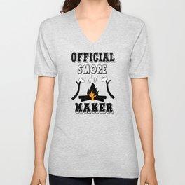 Official smore maker camp fire marshmellow Unisex V-Neck