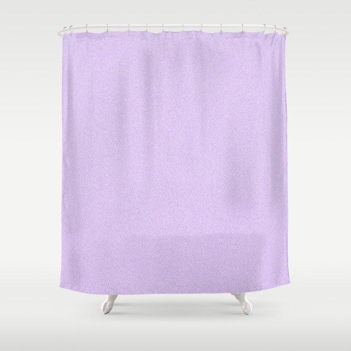 Dense Melange - White and Light Violet Shower Curtain