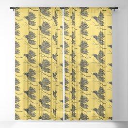 black bird Sheer Curtain