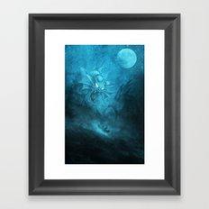 Gyarados Attacking a Pirate Ship Framed Art Print