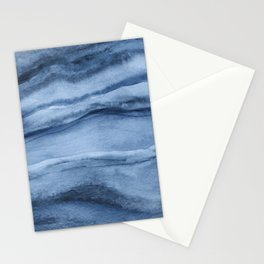 Indigo Blue Agate Pattern Stationery Cards