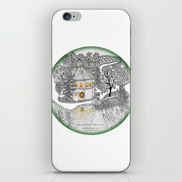 Round Barn Inn, Waitsfield, Vermont near Sugarbush- Zentangle illustration iPhone Skin