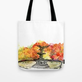 Central Park: Bethesda Fountain Tote Bag