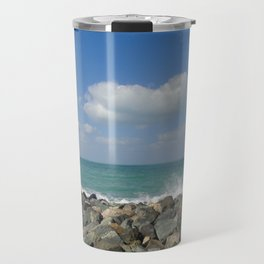 Aqua stone beach - Beaches Travel Mug