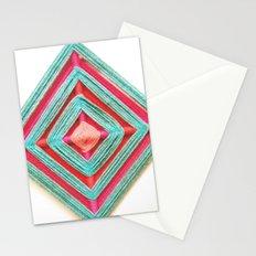 Weaving Mandala- Neon color Stationery Cards