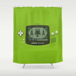 Gameboy Zelda Link Shower Curtain