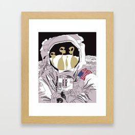 Meet Buzz Aldrin Framed Art Print