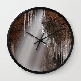 Stream of Frozen Hope Wall Clock