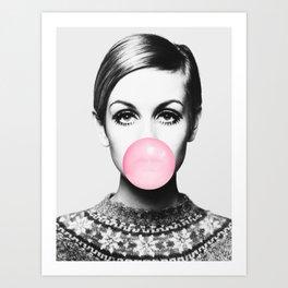 Twiggy Bubblegum Art Print