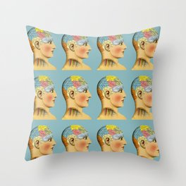 Phrenology Head Throw Pillow