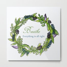 Message Wreath Metal Print