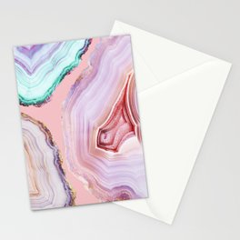 Mineral Agates #Glam collection Stationery Cards