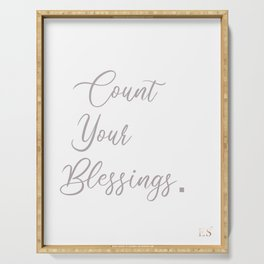 Count Blessings in Life Serving Tray