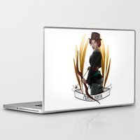 monster hunter Laptop & iPad Skins featuring Steampunk Occupation Series: Monster Hunter by kortothecore
