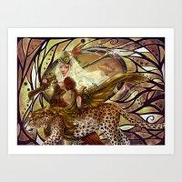 safari Art Prints featuring Safari by Bea González