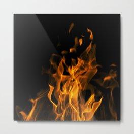 Fire in the dark Metal Print