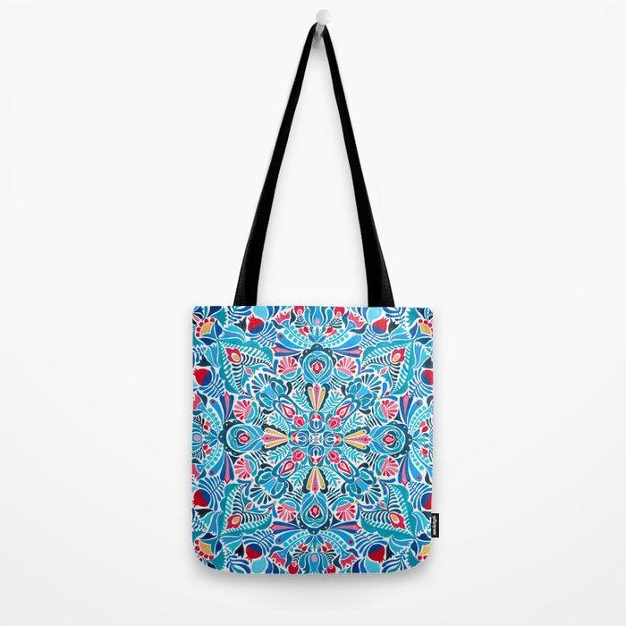 Folk mandala Tote Bag