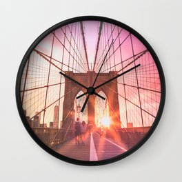 NYC Brooklyn Bridge Wall Clock