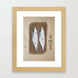 fish illustration Framed Art Print