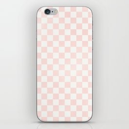 Pink Coral Checkers iPhone Skin
